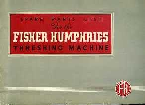 TH11 Fisher Humphries Threshing Machine