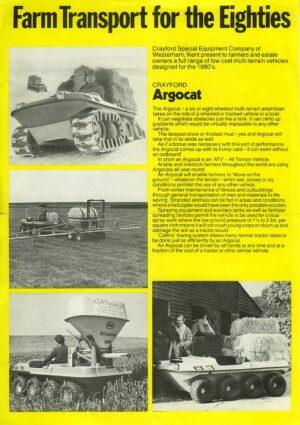 Crayford Argocat leaflet