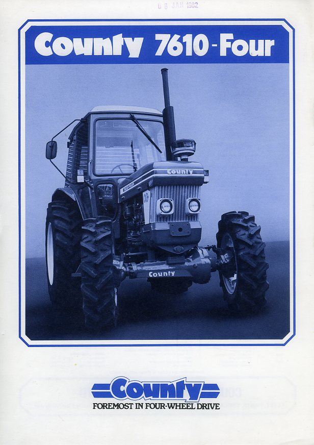 County 7610-Four tractor