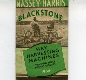 Massey-Harris Blacksotne hay machinery