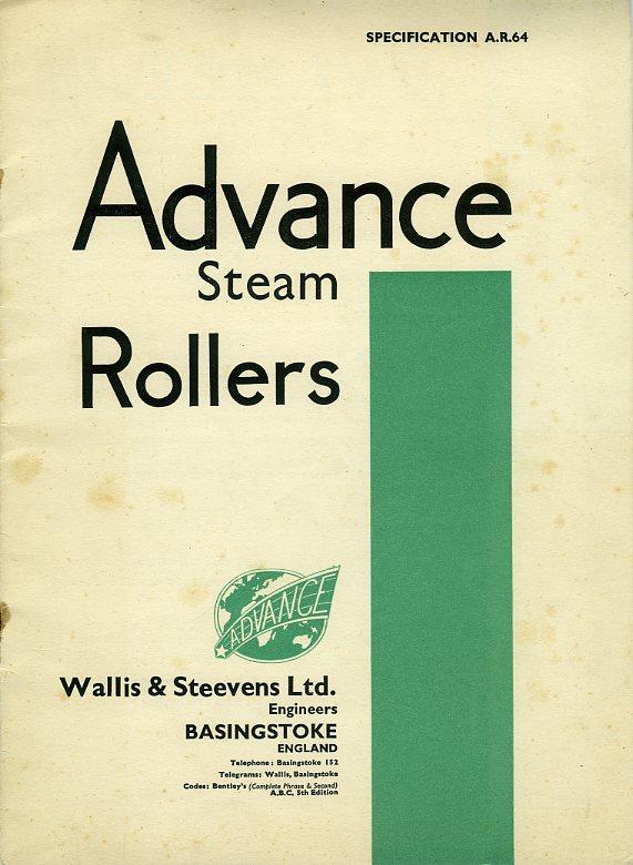 Wallis & Steevens Advance Steam Rollers catalogue
