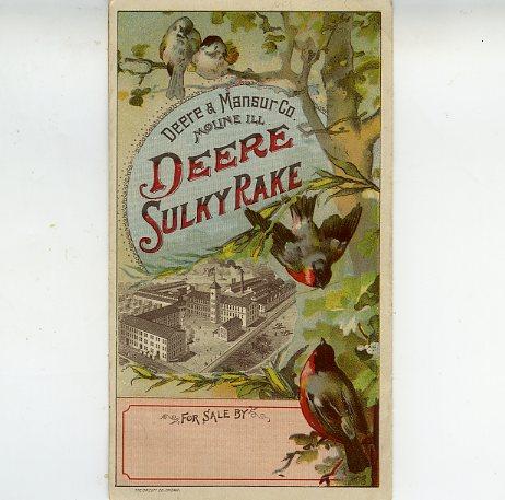 Deere Sulky Rake leaflet